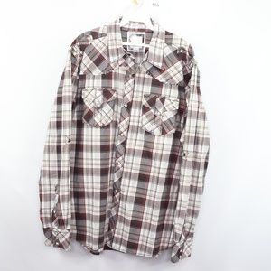 Buckle BKE Mens Large Button Up Western Shirt